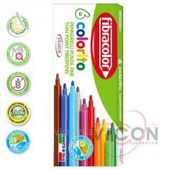 Фломастеры 6 цветов Fibracolor Colorito