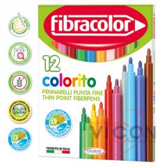 Фломастеры 12 цветов Fibracolor Colorito