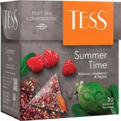 Чай Tess Summer Time зеленый, в пирамидках, 20