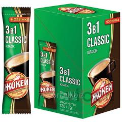 Жокей CLASSIC 3в1 растворимый кофе классический с