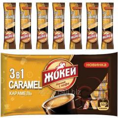 Жокей CARAMEL 3в1, 50 шт. растворимый кофе со