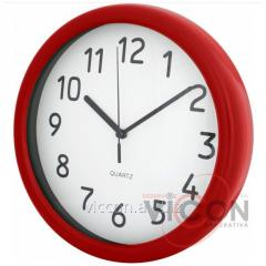 Часы настенные CLASSICAL Economix PROMO красные
