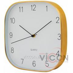 Часы настенные металлические JEWEL Optima PROMO золотые