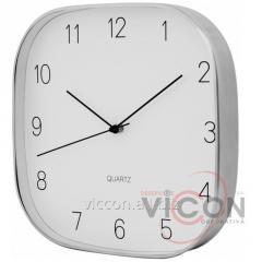 Часы настенные металлические JEWEL Optima PROMO серебряные