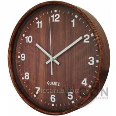 Часы настенные деревянные JEWEL Optima PROMO темное дерево