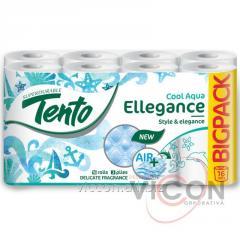 Туалетная бумага Tento Ellegance Cool Aqua 3 слоя