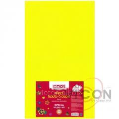 Фетр листовой (полиэстер), 180г/м2, лимонный