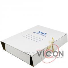 Папка-бокс картонная на 4-х завязках, А4, 50 мм, 360 г/м2