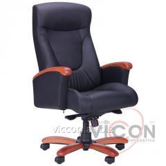 Офисное кресло Galant AMF натуральная кожа черная