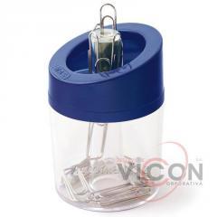 Скрепочница магнитная пластиковая, MAS-802, синяя