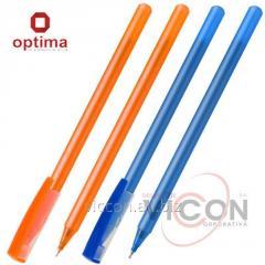 Ручка масляная OPTIMA FLAME 0,7 мм. Корпус асорти,