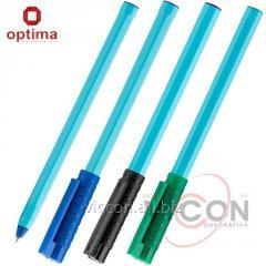 Ручка шариковая OPTIMA HYPE 0,7 mm. Корпус голубой, пишет синим