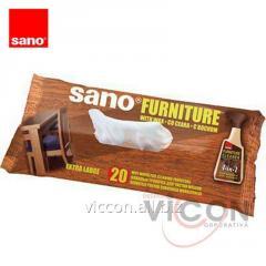Влажные салфетки для мебели (20 шт) Sano Furniture