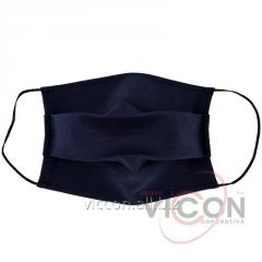 Тканевая стрейч маска, темно-синего цвета