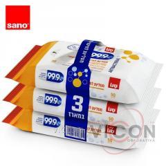Влажные салфетки для стерилизации и базовой очистки, 99,9%, SANO
