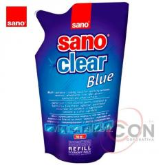 SANO CLEAR BLUE Средство для стёкол, 750 мл (запаска)