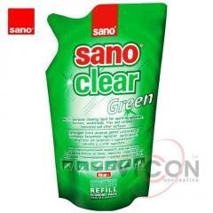 SANO CLEAR GREEN Средство для стёкол, 750 мл (запаска)