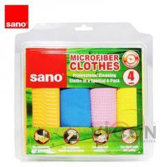 Набор профессиональных тряпок из микроволокна SANO SUSHI (4 шт)