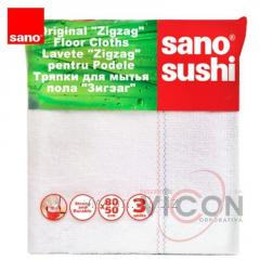 Тряпка для пола (3 шт) Sano Sushi Zigzag