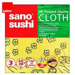 Тряпки многоцелевые (3 шт) SANO BRITE CLOTH