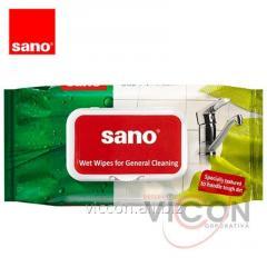 Влажные антибактериальные салфетки SANO SUSHI, 50 шт