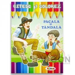 Детская книжка раскраска + чтение - PĂCALĂ и TÂNDALĂ