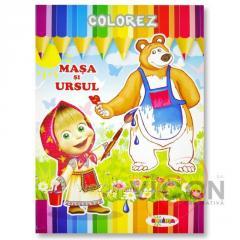 Детская книжка раскраска - МАША И МЕДВЕДИ