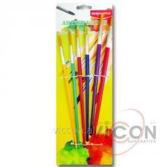 Набор кисточек ( 6 шт) SCHOOLOFFICE Artist Brushes