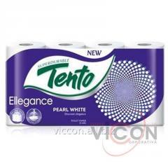 Туалетная бумага TENTO ELLEGANCE PEARL WHITE 8 РУЛ 3 СЛОЯ 17 м
