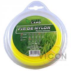 Леска для триммера GL-3,0 x 15 м LB круглая Green Land