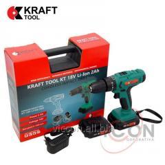 Шуруповёрт аккумуляторный 2.0Ah 18V KT18VLi-Ion KraftTool