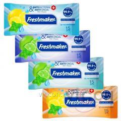 Влажные антибактериальные салфетки FRESHMAKER