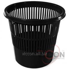 Корзина для бумаг ARK, 11 л. черный пластик