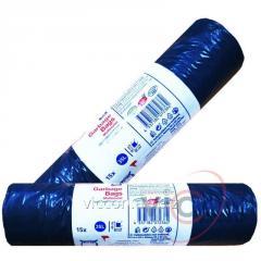 Пакеты для мусора с затяжками 15 шт/35 л