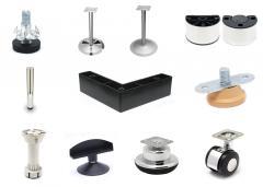 Опоры мебельные и ролики