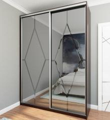 Зеркальные Двери-Купе с гравировкой
