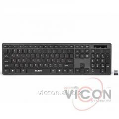 Беспроводная клавиатура Wireless Keyboard SVEN KB-E5800W, Slim, Low-profile keys, Nano rec., 2.4 Ghz, 1xAA, Black