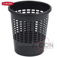 Корзина для бумаг черная, CURVER