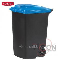 Контейнер для мусора на колесах 100 л, синяя крашка, CURVER