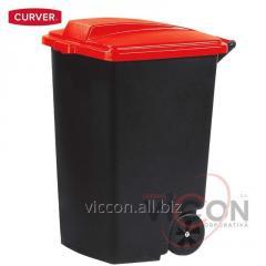 Контейнер для мусора на колесах 100 л, красная крашка, CURVER