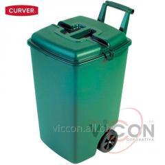 Контейнер для мусора на колесах 90 л, зеленый, CURVER