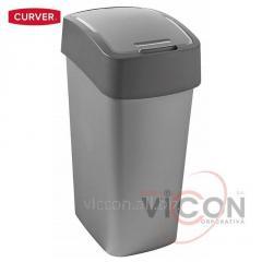 Ведро для мусора FLIP BIN CURVER, 50 л