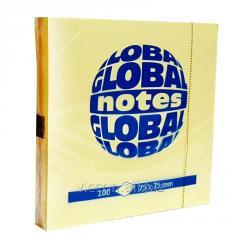 Стикеры для заметок с липким слоем, 75 x 75 mm, 100 лист., ассорти MIX, GLOBAL NOTES