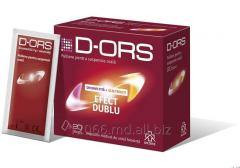 D-ORS - este o combinație doi în unu: diosmectită (adsorbant intestinal) și electroliți (sare pentru rehidratare).