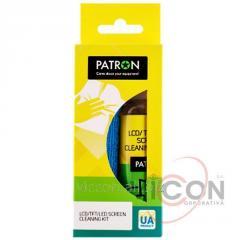 Спрей для очистки экранов 100 мл. + салфетка микрофибра, PATRON