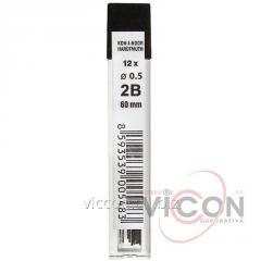 Грифеля для механического карандаша KOH-i-NOOR, 0.5 mm, 2B