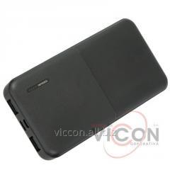 Мобильная батарея (Power Bank) 10 000 mAh, 2*USB output, 5V 2.1A, черная, Optima 4106