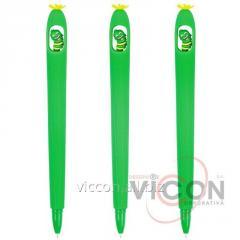 Ручка гелевая Green Worm, пишет синим