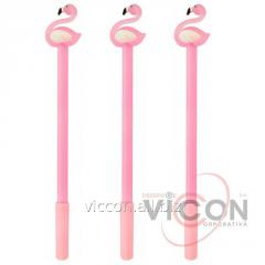 Ручка гелевая Flamingo, пишет синим