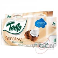 Бумага гигиеническая Tento Sensitive Coconut Milk,